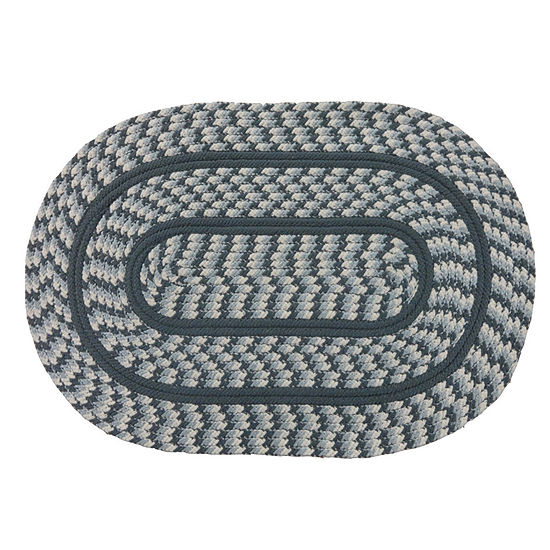 Better Trends Cottage Braided Oval Reversible Rug 24x40
