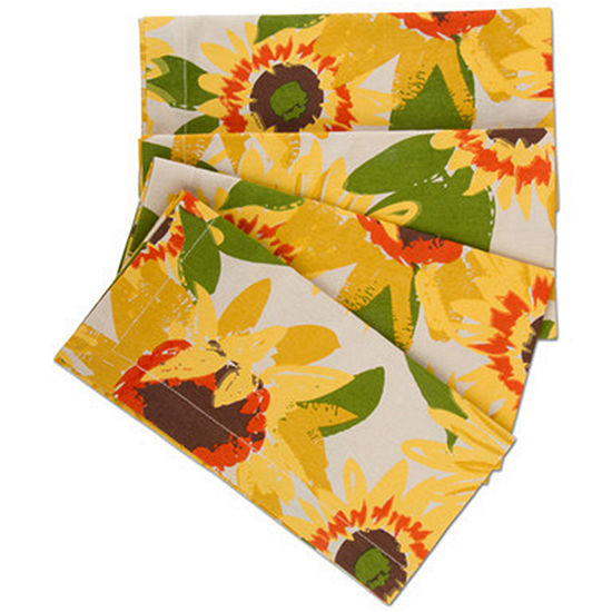 Tag Hello Sunshine Sunflower 4 Pc Napkins