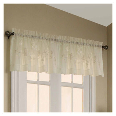 Hydrangea Embroidered Rod-Pocket Valance