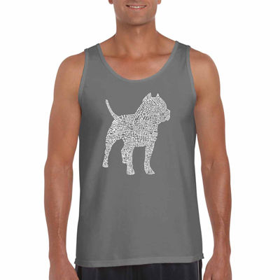 Los Angeles Pop Art Pitbull Word Art Tank Top