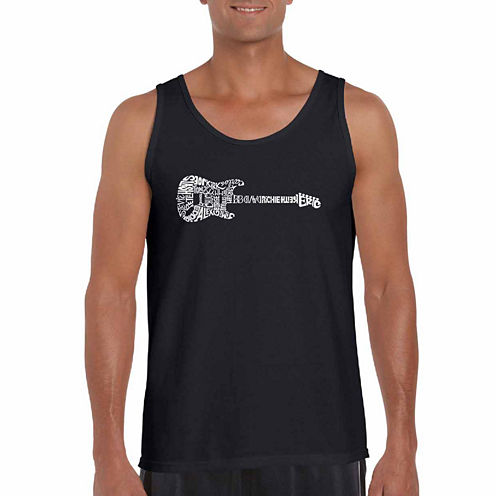 Los Angeles Pop Art Rock Guitar Tank Top