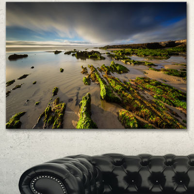 Designart Furnas Virgin Beach Galicia Spain Seashore Canvas Art Print