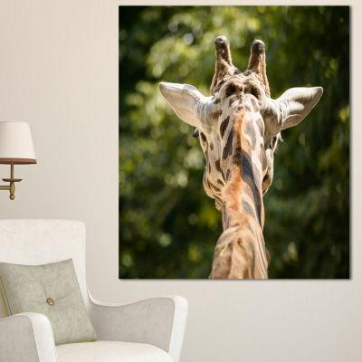 Designart Giraffe Head Back View Abstract CanvasArt Print - 3 Panels