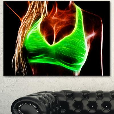 Designart Glowing Sexy Women With Big Tits ModernPortrait Canvas Art