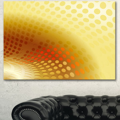 Designart Golden Fractal Abstract Pattern Large Abstract Canvas Artwork