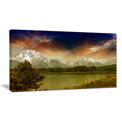 Designart Grand Teton National Park Extra Large Landscape Canvas Art Print
