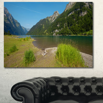 Designart Green Mountain Landscape View LandscapeCanvas Art Print