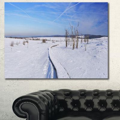 Designart Hautes Fagnes In Belgium Panorama ModernSeashore Canvas Wall Art - 3 Panels