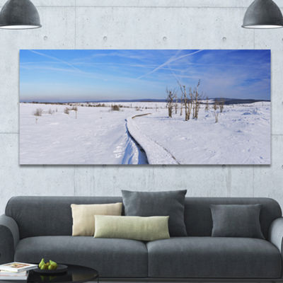 Designart Hautes Fagnes In Belgium Panorama Oversized Seashore Canvas Art Print