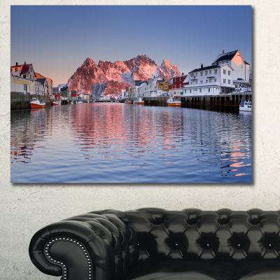 Designart Henningsvaer On The Lofoten Norway Modern Landscape Canvas Art