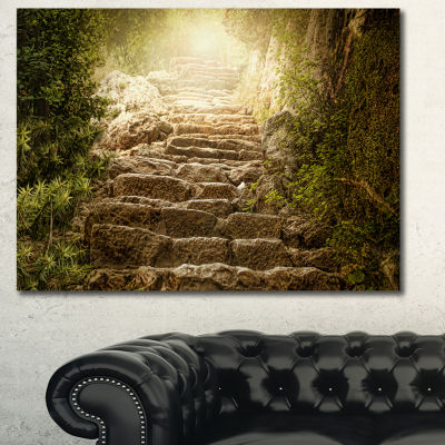 Design Art Holy Light And Upstairs Landscape CanvasArt Print - 3 Panels