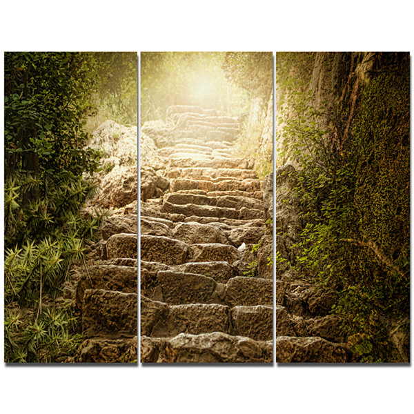 Designart Holy Light And Upstairs Landscape CanvasArt Print - 3 Panels