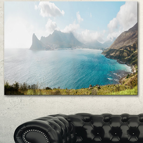 Designart Hout Bay From Chapman Peak Seashore Photo Canvas Art Print - 3 Panels