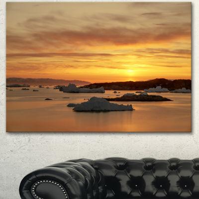 Design Art Huge Icebergs On Arctic Ocean SeascapeCanvas Art Print