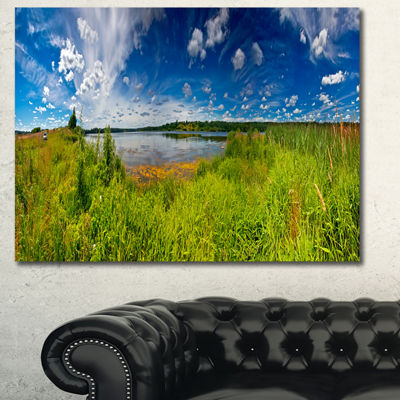 Designart Ideal Summer Meadow Panorama LandscapeCanvas Art Print - 3 Panels