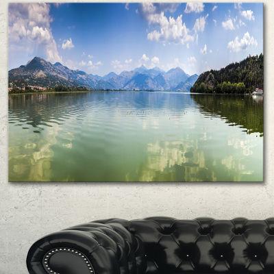 Designart Kastoria Lake Greece Panorama LandscapeCanvas Art Print - 3 Panels