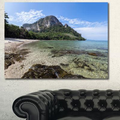 Designart Koh Mook Coast Line Modern Seashore Canvas Wall Art - 3 Panels