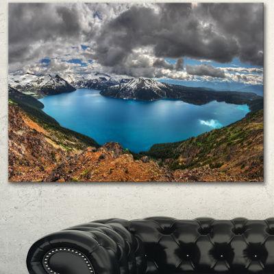 Designart Lake Surrounded By Mountains Extra LargeLandscape Canvas Art Print