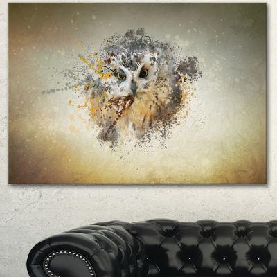 Designart Large Gracing Owl Animal Canvas Wall Art