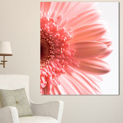 Designart Large Pink Daisy Flower Petals Floral Canvas Art Print - 3 Panels