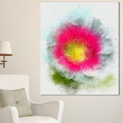 Designart Large Red Poppy Flower On White FloralCanvas Art Print - 3 Panels