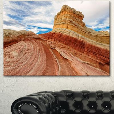 Designart Paria Plateau In Northern Arizona Landscape Canvas Art Print - 3 Panels