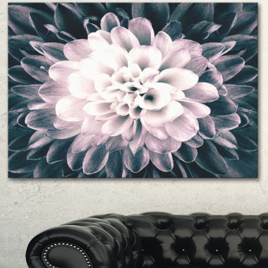 Designart Macro Chrysanthemum Flower Flowers Canvas Wall Artwork
