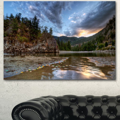 Designart Peaceful Evening At Mountain Creek Landscape Canvas Art Print