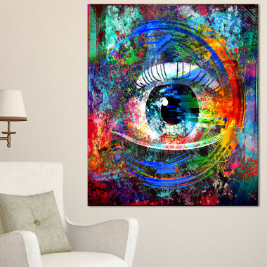Designart Magic Eye Over Abstract Design Large Abstract Canvas Art