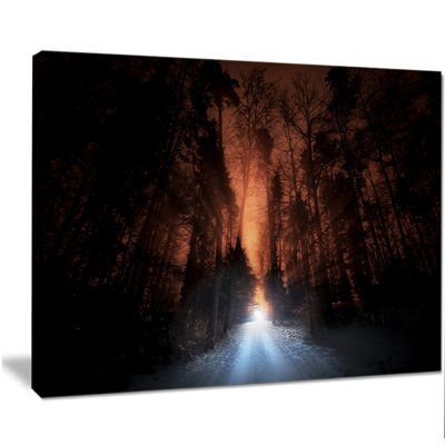 Designart Picturesque Autumn Forest Forest CanvasArt Print