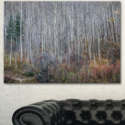 Design Art Maroon Bells Mountain View Modern ForestCanvas Art - 3 Panels