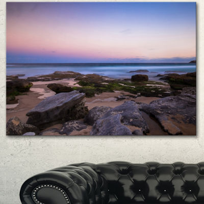 Designart Maroubra Beach At Sunset Panorama ModernSeashore Canvas Art - 3 Panels
