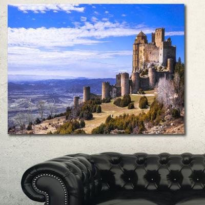 Design Art Medieval Loarre Castle Panorama Landscape Canvas Art Print