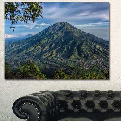 Designart Merbabu Volcano In Java Large LandscapeCanvas Art Print - 3 Panels