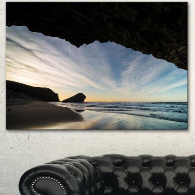 Designart Monsul Beach During Sunset Large Seashore Canvas Art Print