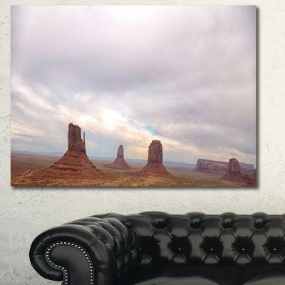 Designart Monument Valley Panorama Landscape Canvas Art Print