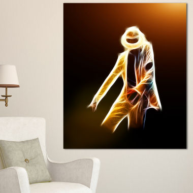 Design Art Moonwalker In Dance Style Modern Portrait Canvas Art