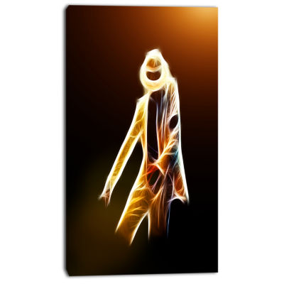 Designart Moonwalker In Dance Style Modern Portrait Canvas Art