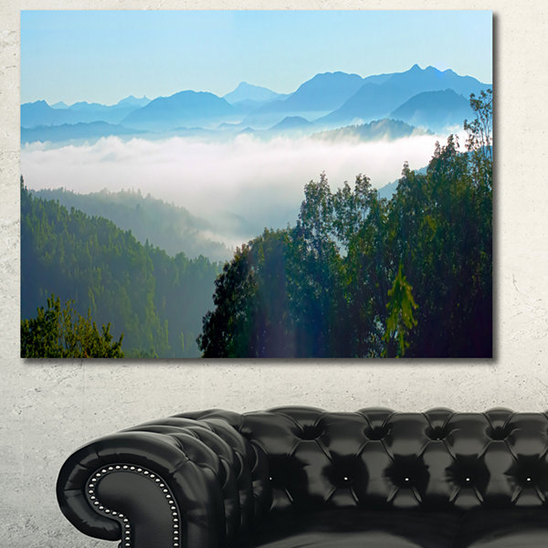 Design Art Morning In Blue Ridge Parkway LandscapeCanvas Art Print
