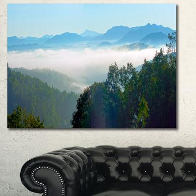 Design Art Morning In Blue Ridge Parkway LandscapeCanvas Art Print - 3 Panels