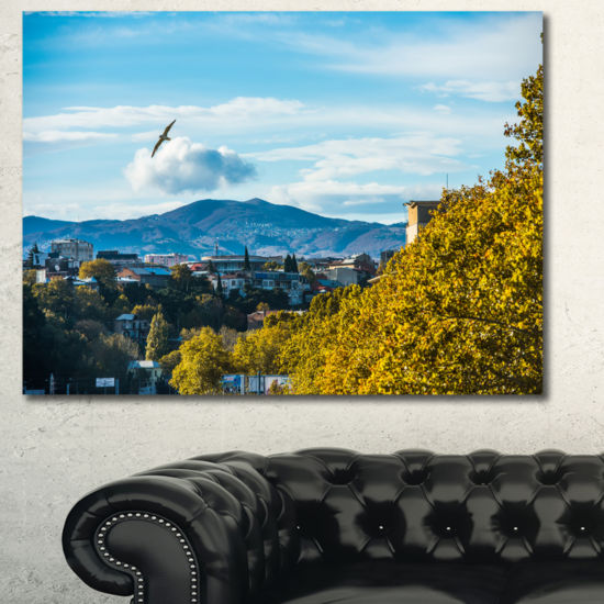 Designart Old Town And Hills In Tbilisi LandscapeCanvas Art Print