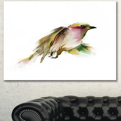 Designart Nice Flight Of Wild Bird On White AnimalCanvas Art Print - 3 Panels