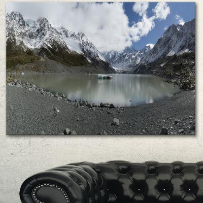 Designart New Zealand Mountains Panorama Large Landscape Canvas Art - 3 Panels