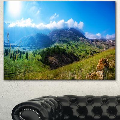 Designart Mountain Landscape Panorama Landscape Canvas Art Print