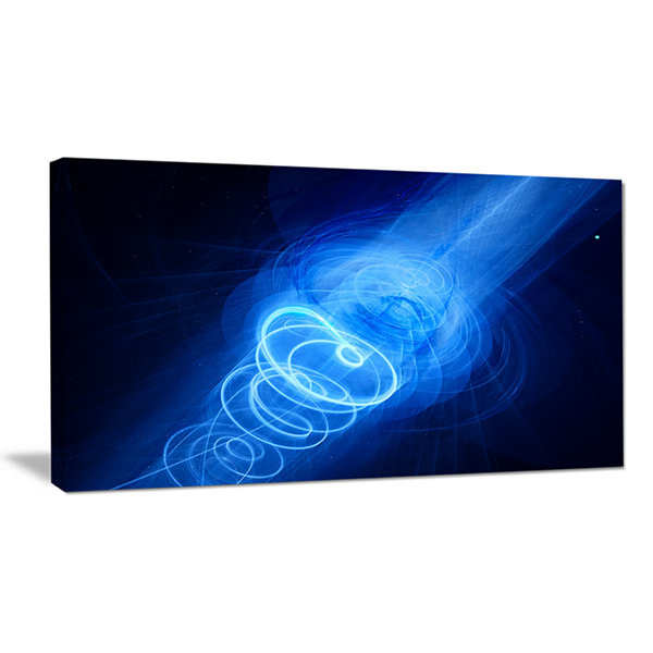 Designart New Plasma Weapon In Space Large Abstract Canvas Wall Art