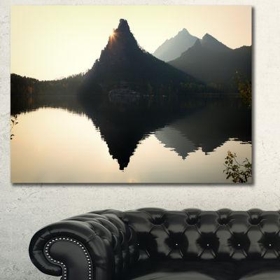 Designart National Park Burabay At Sunset Landscape Canvas Art Print - 3 Panels