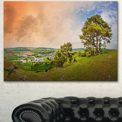 Designart Mountains In Germany Panorama Large Landscape Canvas Art Print