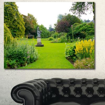 Designart Plant And Flowers In Garden Landscape Canvas Art Print - 3 Panels
