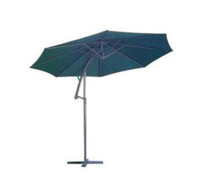 10' Outdoor Patio Off-Set Crank and Tilt Umbrella - Green