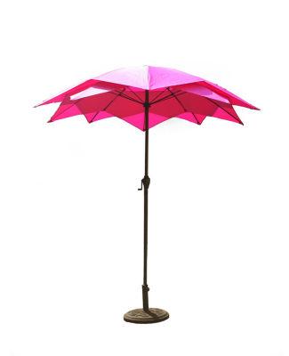 8.2' Outdoor Patio Lotus Umbrella with Hand Crank - Hot Pink